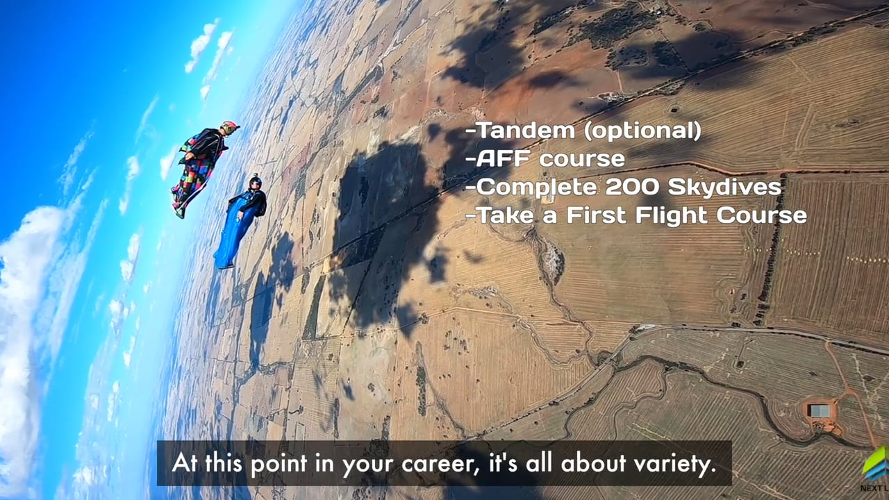 Learn to fly a wingsuit